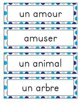 Complete Word Wall for Grade 2 - Murale des mots pour la deuxième année - French
