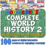 World History 2 Google Drive Interactive Notebook Bundle