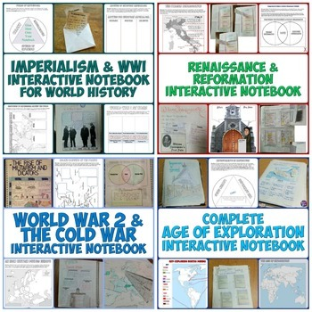 World History 2 Interactive Notebook Bundle