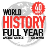 World History BUNDLE Ancient Greece to Cold War Curriculum - GOOGLE DRIVE ONLY