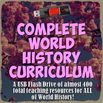 Complete World History Curriculum USB Flash Drive