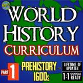 World History Curriculum Part 1: Prehistory-1600s!  Full Year Resource!