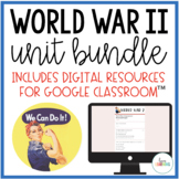 World War 2 Unit with PowerPoint Lessons, Study Guide, and More!