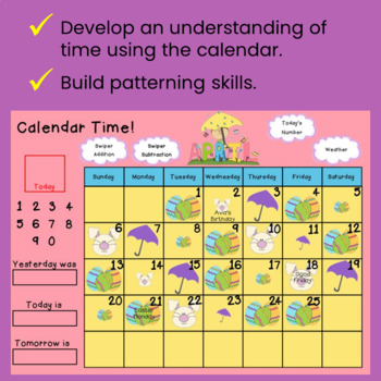 Calendrier Français ~Elementary Interactive SMART Board Calendar~