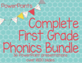 Complete Year Phonics Set First Grade PowerPoint (36 Presentations) RTI