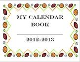 Complete Year Sports Theme Calendar Book