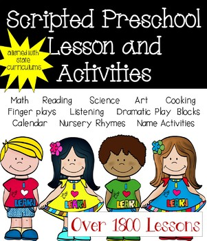 A Year of Scripted Preschool Lessons and Curriculum (12 Units)