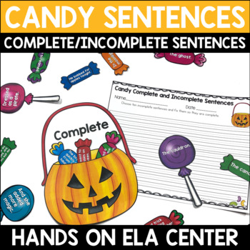 Complete and Incomplete Candy Sentences Center