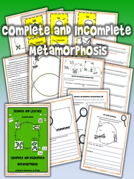 Complete and Incomplete Metamorphosis- Science and Literacy Lesson (STAAR)