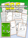 Complete and Incomplete Metamorphosis- Science and Literac