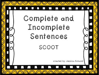 Complete and Incomplete Sentence SCOOT