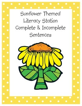 Complete and Incomplete Sentence Station