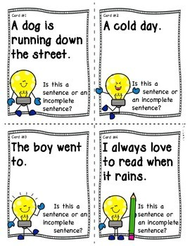 Complete and Incomplete Sentences - Am I a Complete or Incomplete Sentence?