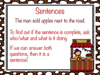 Complete and Incomplete Sentences PowerPoint