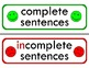 Complete and Incomplete Sentences Sorting Center