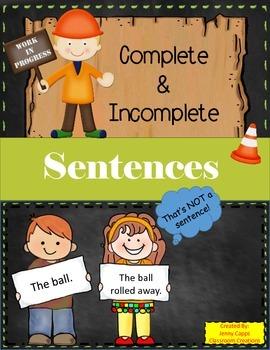Complete and Incomplete Sentences Quiz-Quiz-Trade