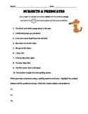 Complete and Simple Subjects and Predicates
