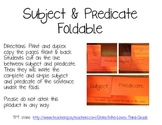 Complete and Simple Subjects and Predicates Foldable