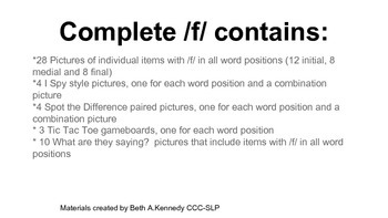 Complete /f/