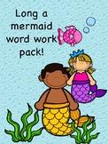Complete long a mermaid word work pack