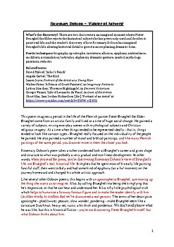 Complete notes on Rosemary Dobson for HSC Discovery - PLUS a sample essay