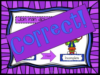 Complete or Incomplete Sentences Interactive Game! EDITABLE!