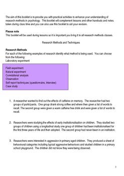 Complete research methods activity workbook