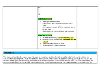 EDITABLE set of 2 Maths Lesson Plans