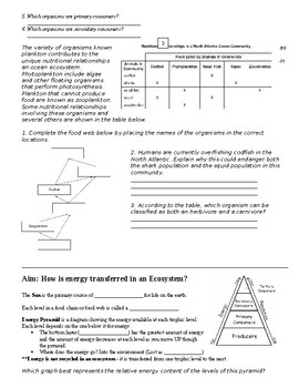 Complete set of Ecology - Guided Notes