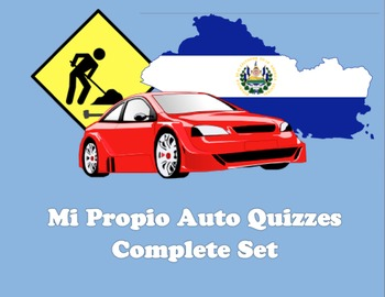 Complete set of Mi Propio Auto Quizzes