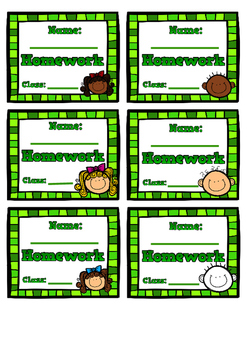 Complete set of exercise / workbook labels