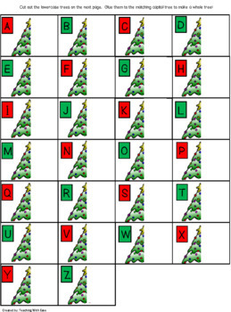 Complete the Christmas Tree: Capital and Lowercase Letter Matching