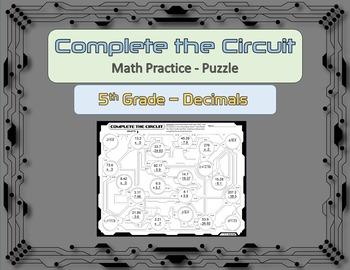 Complete the Circuit - Decimals Practice Puzzle