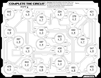 Complete the Circuit - Multiplication Practice/Puzzle