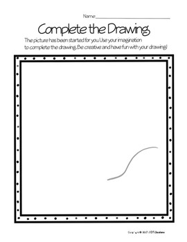 Complete the Drawing Activity