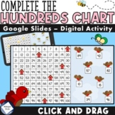 Count to 100 - Missing Numbers Hundreds Chart - Click and Drag