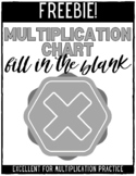 Complete the Multiplication Chart Challenge - FREEBIE
