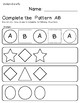 Complete the Pattern: AB Shapes