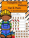 Complete the Pattern: AB | Thanksgiving | Cut & Paste | Full Color