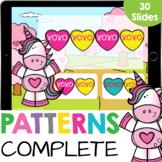 Complete the Pattern:Convo Hearts Kindergarten Math Google