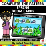 Complete the Pattern (Spring) Boom Cards (Distance Learning)