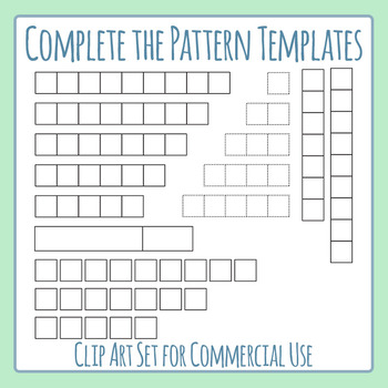 Complete the Pattern Templates Clip Art for Commercial Use
