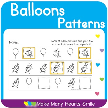 Complete the Patterns: Balloons    MMHS23