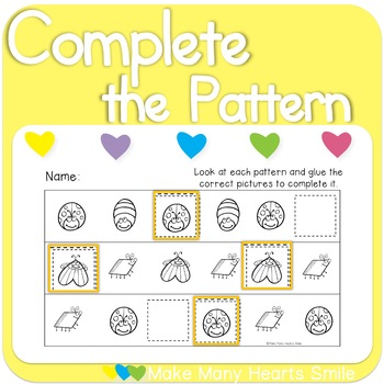 Complete the Patterns: Bugs    MMHS23
