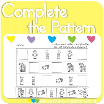 Complete the Patterns: Candy    MMHS23