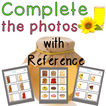 Complete the Photos with Reference for Visual Perception.