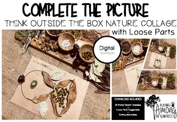 Complete the Picture - Think Outside the Box Nature Collage with Loose Parts