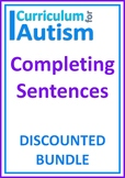 Complete the Sentence Bundle Autism Reading Literacy