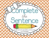 Complete the Sentence: Sight Word and Punctuation Practice Pages