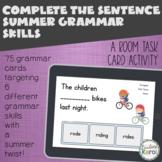 Complete the Sentence Summer Grammar Skill BOOM CARDS